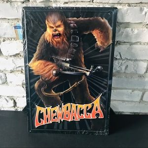 Star Wars Chewbacca Metal Tin Embossed Sign 12X18